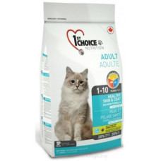 1st Choice Healthy Skin & Coat сухой корм с лососем для взрослых кошек для улучшения состояния кожи и шерсти
