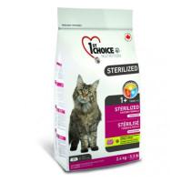1st Choice Sterelised беззерновой сухой корм с курицей и бататом для стерилизованных взрослых кошек