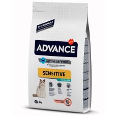Advance Sterilized Sensitive (Salmon) сухой корм для стерилизованных кошек с лососем