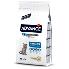 Advance Sterilized Turkey сухой корм для стерилизованных кошек с индейкой