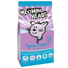 """Meowing Heads сухой корм для взрослых кошек с лососем, курицей и яйцом """"Удачная рыбалка"""""""