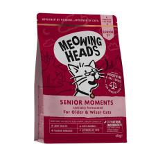 """Meowing Heads сухой корм для кошек старше 7 лет с лососем и яйцом """"Мудрые года"""""""