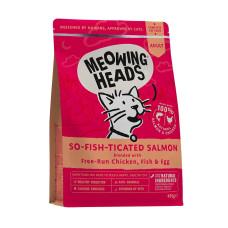 """Купить Meowing Heads сухой корм для взрослых кошек с лососем, курицей и рисом """"Фиш-гурман"""""""