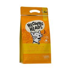 """Meowing Heads сухой корм для кошек с избыточным весом с курицей и лососем """"Худеющий толстячок"""""""