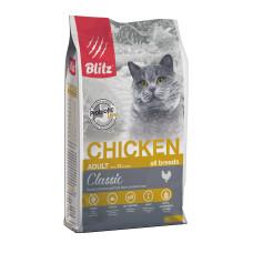 Blitz Adult Cats Chicken для взрослых  кошек всех пород с курицей