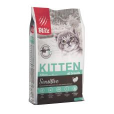 Blitz Kitten для котят,беременных и кормящих кошек с индейкой