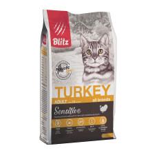 Blitz Adult Cats Turkey для взрослых кошек всех пород с индейкой