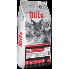 Купить Blitz Beef Adult Sensitive for Cats сухой корм с говядиной для взрослых кошек всех пород