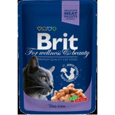 Brit Premium Cod Fish влажный корм с треской для кошек 100 гр