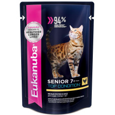 Eukanuba Senior 7+ Top Condition with Сhicken влажный корм для кошек старше 7 лет с курицей