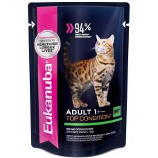 Eukanuba Adult 1+ Top Condition with Beef влажный корм для кошек с говядиной