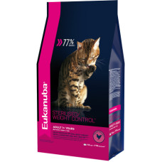 Eukanuba Adult Sterilised/Weight control with Chicken для кошек с избыточным весом и стерилизованных