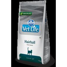 Купить Farmina Vet Life Hairboll полнорационное питание для взрослых кошек способствующее выведению комочков шерсти из кишечника