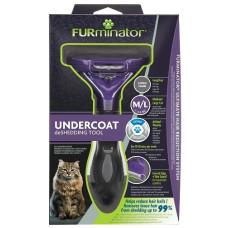 Купить Фурминатор FURminator M/L для больших кошек c длинной шерстью