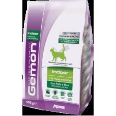 Купить Gemon Cat Indoor сухой корм с курицей и рисом для домашних кошек