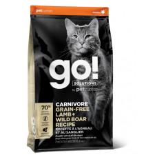 Купить Go! Solutions CARNIROVE GF беззерновой корм для котят и кошек, с ягненком и мясом дикого кабана