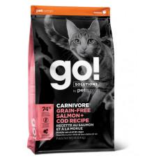 Купить Go! Solutions CARNIROVE GF беззерновой корм для котят и кошек, с лососем и треской