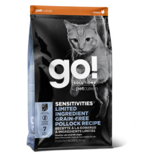 Купить GO!Sensitivity + Shine Lemited Ingredient Diet Pollock Recipe беззерновой корм для котят и кошек с чувствительным пищеварением с минтаем