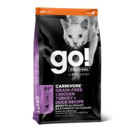 GO!Fit + Free Grain Free Chicken, Turkey, Duck Cat Recipe для котят и кошек с курицей, индейкой, уткой и лососем