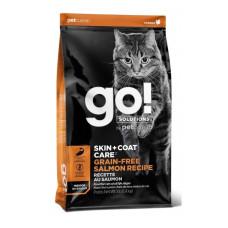 Go! Solutions Skin + Coat Care беззерновой корм для котят и кошек, с лососем