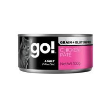 Go Grain + Gluten Free Chicken Pate консервы беззерновые с курицей для кошек 100г (паштет)