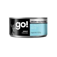 Go Grain + Gluten Free Turkey Pate консервы беззерновые с индейкой для кошек 100г (паштет)