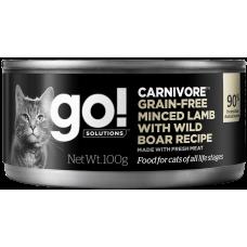 Купить GO! Carnivore Grain-Free Minced Lamb with Wild Boar консервы беззерновые с рубленым мясом ягненка и дикого кабана для кошек
