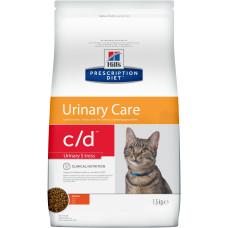 Hills Prescription Diet c/d Feline Urinary Stress сухой диетический корм с курицей для кошек для поддержания здоровья мочевыводящих путей и при стрессе одновременно