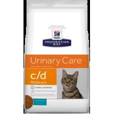 Купить Hills Prescription Diet Feline c/d Ocean Fish сухой диетический корм с океанической рыбой для кошек для поддержания здоровья мочевыводящих путей