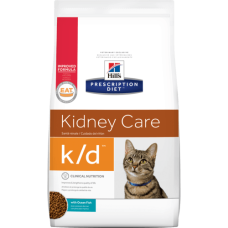 Купить Hill's Prescription Diet Feline k/d сухой диетический корм с тунцом для кошек для поддержания здоровья почек