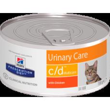 Hills Prescription Diet Feline c/d Multicare with Chicken диетические консервы с курицей для кошек для поддержания здоровья мочевыводящих путей