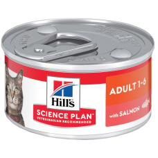 Hill's Science Plan Feline Adult with Salmon влажный корм с лососем для кошек от 1 до 6 лет для повседневного питания