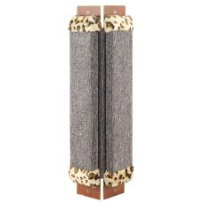 Купить Когтеточка из ковролина №2 угловая с оторочкой из меха, 240*30*570мм