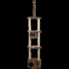 Комплекс для кошек., цв.мех, многоэтажный с круглым домом Зооник (520х520х2700) арт.22042