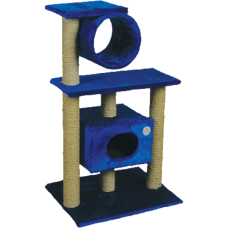Комплекс для кошек, одн.мех, 2-х этаж. дом +труба Зооник (610х530х1050) арт.22040