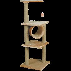Купить Комплекс для кошек, одн.мех, 3-х этаж. с трубой Зооник (450х450х1280) арт.22035
