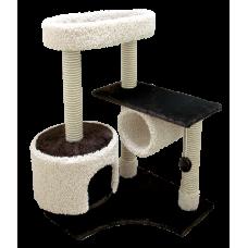 Комплекс для кошек с большой лежанкой и трубой Зооник (88х81х111см)
