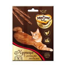 Мнямс Деликатес лакомые палочки 9 см для кошек с курицей и лесными ягодами 3х4 гр