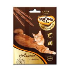 Мнямс Деликатес лакомые палочки 9 см для кошек с лососем и манго 3х4 гр