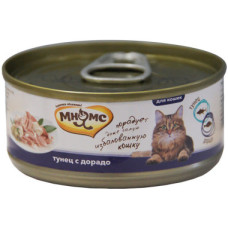 Мнямс консервы для кошек Тунец с дорадо в нежном желе 70 г