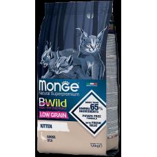 Monge BWild Kitten Goose низкозерновой корм из мяса гуся для котят