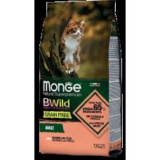 Купить Monge BWild Grain Free Adult Salmon with Peas for Cat беззерновой корм из лосося и гороха для взрослых кошек