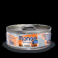 Купить Monge Cat Natural Tonno del Pacifico con Salmone влажный корм для кошек с тунцом и лососем (банка)