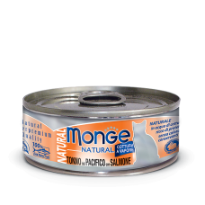Monge Cat Natural Tonno del Pacifico con Salmone влажный корм для кошек с тунцом и лососем (банка)