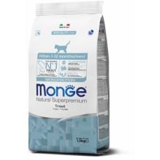 Купить Monge Cat Monoprotein сухой корм для котят с форелью