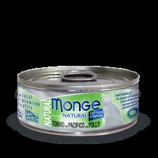 Купить Monge Cat Natural Tonno del Pacifico con Pollo влажный корм для кошек с тунцом и курицей (банка)