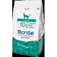 Купить Monge Superpremium Cat Hairball сухой корм с курицей для кошек,способствует выведению шерсти из желудка