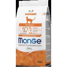 Купить Monge Cat Monoprotein Sterilised Duck сухой корм с уткой для стерилизованных кошек
