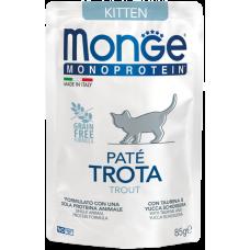 Monge Monoprotein Kitten Pate Trota (пауч) беззерновой монобелковый рацион паштет из тунца для котят от 2 месяцев