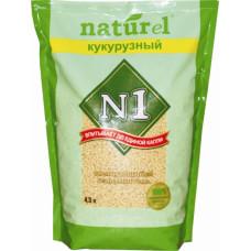 №1 Naturel Кукурузный наполнитель комкующийся